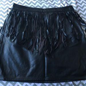 Dresses & Skirts - Leather fringe Mini Skirt